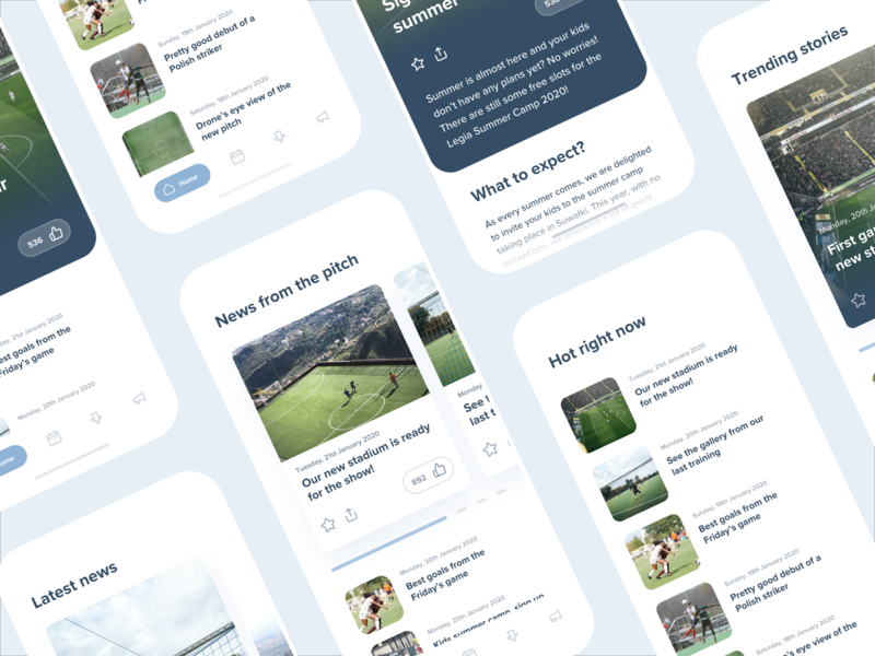 News Cards - New Blog Post football soccer sports reading cards card news app newsfeed articles article news design user interface sketch interaction user experience ux mobile app ui