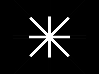 Insight - Logo Animation flat asterix logodesign brutalism minimalist visual identity brand design brandidentity branding logotype swiss style logo design logo