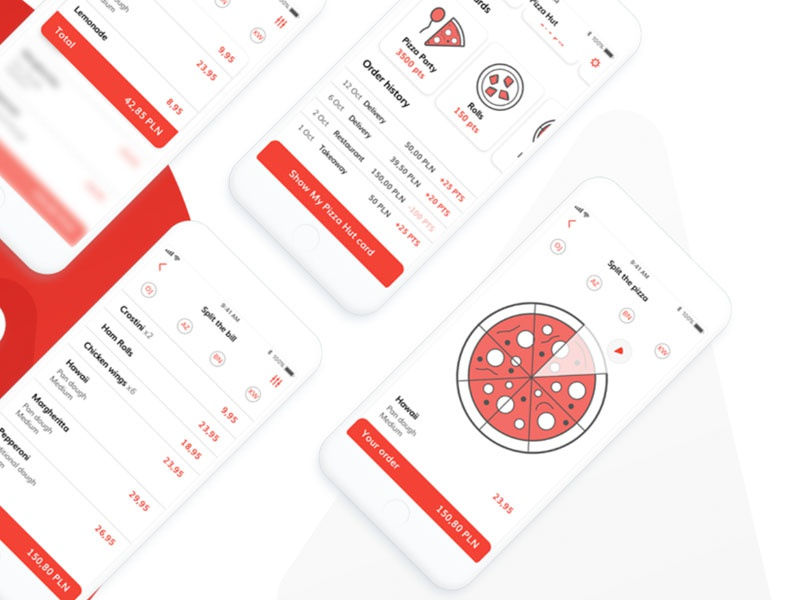 Pizza Hut App Redesign application interface mobile design interaction pizza hut pizza food app mobile ux ui