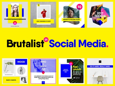 Brutalist Social Media Pack Vol. 01