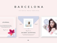 Barcelona - 100 Social Media Design Pack