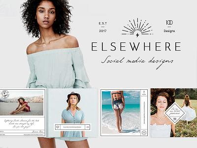 Elsewhere: Blog & Social Media Design Pack psd app advertising photography design clean instagram ui fashion vintage template social