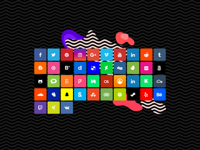 SVG Social Icon Pack from SKIN WordPress theme icons social website ui ux web design svg uxdesign uidesign web design wordpress