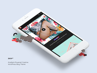 Mobile View of SKIN WordPress Blog Theme
