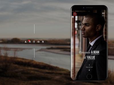 Aston Luxury Lifestyle Brand Templates design instagram social vintage web design mockup advertising mens fashion man fashion social media