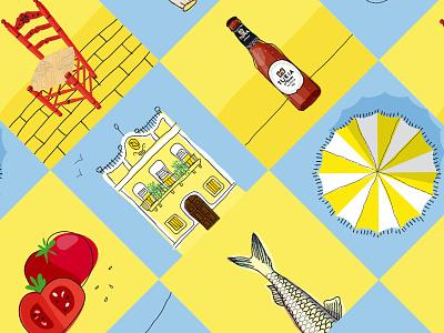 Welcome Summer! spain mediterraneo cabanyal cerveza turia valencia turia ilustracion verano welcome summer illustration welcome summer