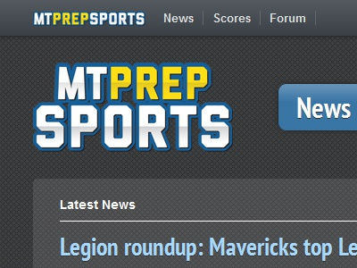 Prep Sports Website website sports navigation news glossy