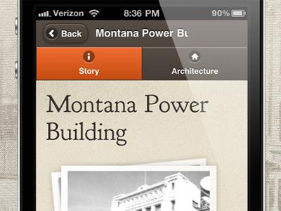 Historical Tour Building Details historical tour mobile web app iphone jquery mobile