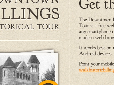 Historical Tour App Website iphone web app mobile historical tour jquery mobile font-face