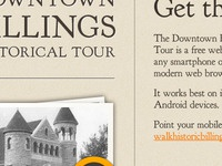 Historical Tour App Website