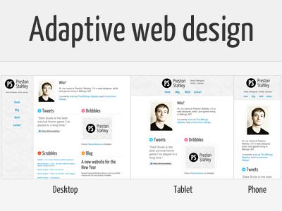 Adaptive Personal Site website adaptive mobile redesign less frameless wordpress
