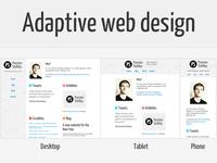 Adaptive Personal Site
