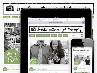 Brooke Peterson Photography website responsive wordpress bootstrap photography ipad iphone