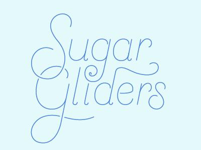 Sugar Gliders lettering logo custom sugar gliders illustration design