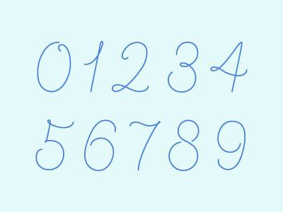 Sugar Gliders Numeral Set numerals numbers lettering custom design illustration