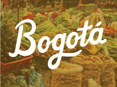 Bogota 2 bogota hand lettering custom type art design