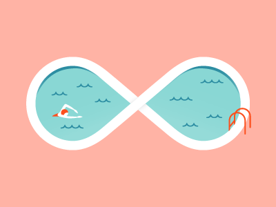 Infinity Pool infinity pool swimmer illustration icon