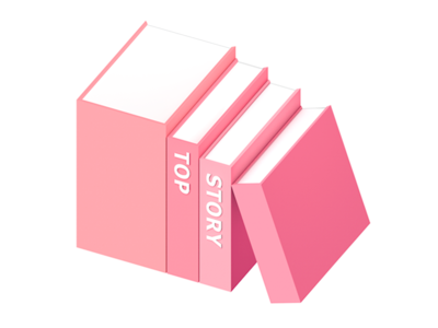 Top Story stairs type story book illustration 3d