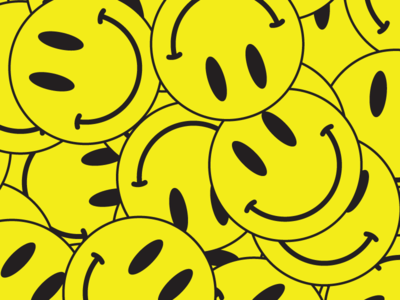 smiley face illustration poster 90s symbol culture pop yellow face smiley