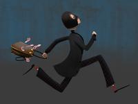 run - burglar