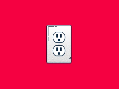 WFH Essential Tech: Plugs covid-19 work from home plug electricity graphic concept icon spot illustration illustration vector