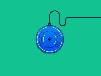 WFH Essentials: Wireless Charger phone charger technology concept spot illustration icon illustration vector