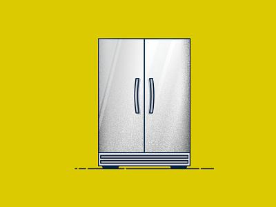 WFH Essential Tech: Refrigerator food fridge concept spot illustration icon illustration vector