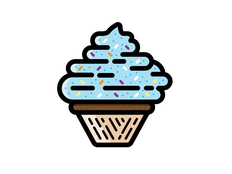 Cupcake dessert sweets junk cake cupcake chocolate candy illustration icon vector
