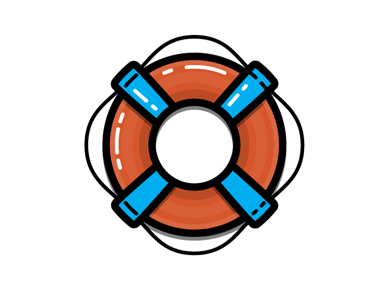 Life Preserver saver lifesaver preserver swim water boat ocean nautical sea illustration icon vector