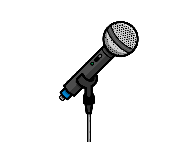 Microphone concert show live band sing speak microphone mic music illustration icon vector