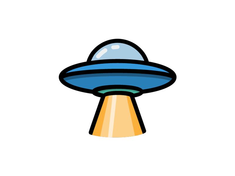 UFO alien ufo rocket flying nasa galaxy spacecraft space unknown illustration icon vector