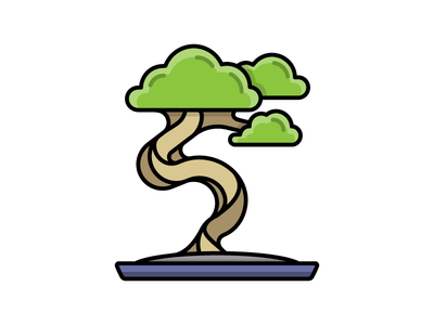 Bonsai Tree bonsai tree home houseplant plant icon a day daily challenge illustration icon vector