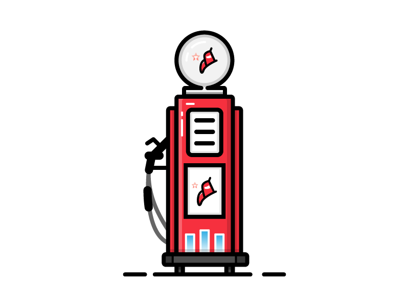 Refuel station gasoline refuel fuel pump gas georgia south creative illustration icon vector