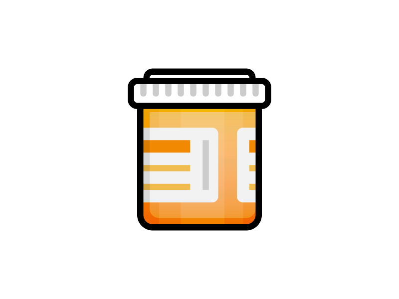 Medical Icons - Prescription Bottle medicine medication pills bottle prescription medical illustration icon vector