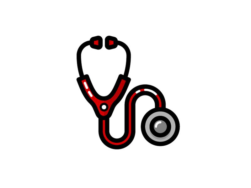 Medical Icons - Stethoscope doctor hospital heartbeat heart utensil stethoscope medical illustration icon vector