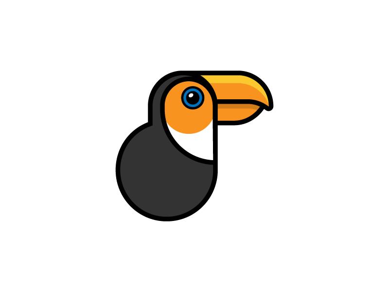Toucan exotic amazon beak toucan bird illustration icon vector