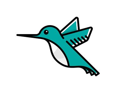 Hummingbird zoo aviary fly wings exotic colorful hummingbird bird illustration icon vector