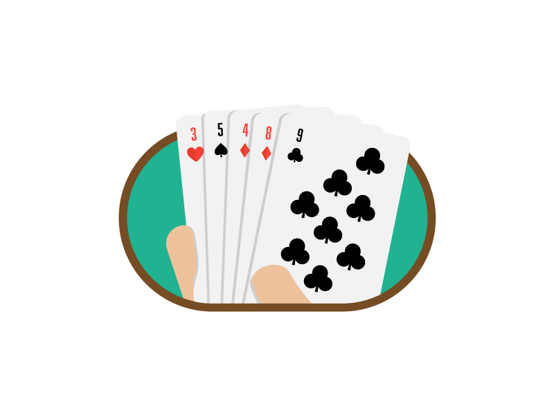 Poker wsop world series poker shuffle deck playing cards sports playing cards illustration icon vector