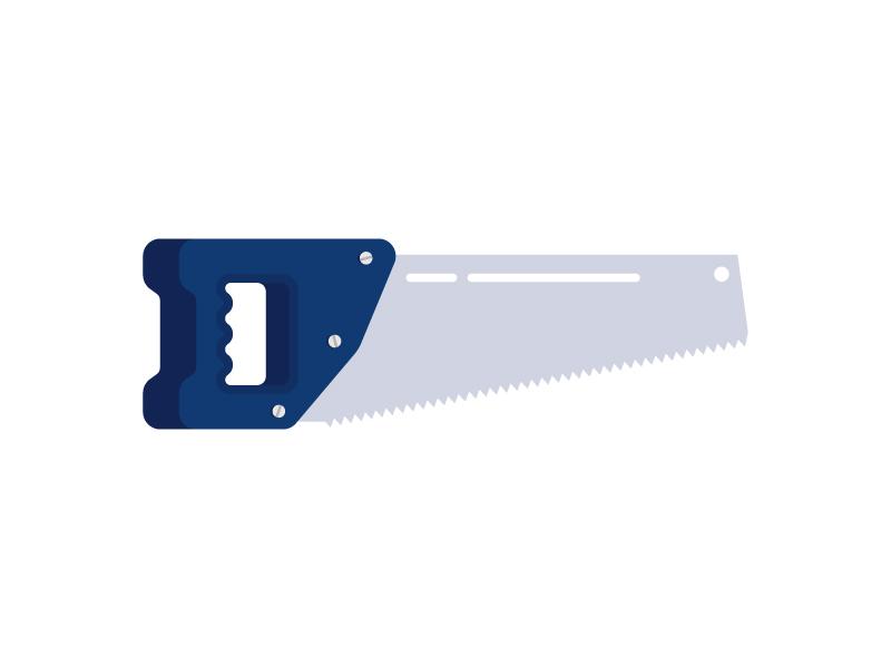 Saw wood metal craftsman cut build construction tool illustration icon vector