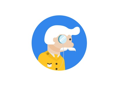 Or was it Colonel Mustard? games mustard monocle criminal suspect murder crime board game clue illustration icon vector