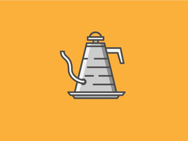 Kettle pour brew water beverage drink spot illustration coffee illustration icon vector