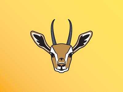 Gazelle dave ramsey intense money debt run gazelle spot illustration animal illustration icon vector