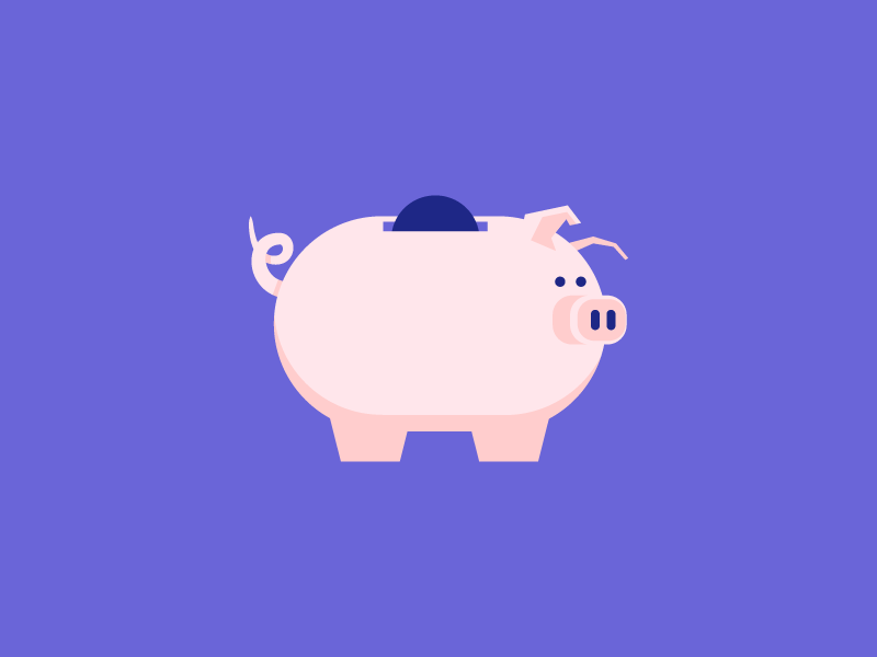 Piggy Bank snout animal piggy bank savings money coin pig illustration icon vector
