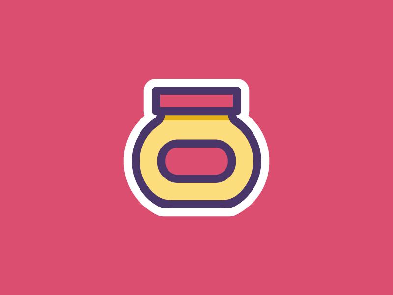 Mustard sauce sandwich ketchup mustard condiment food sticker illustration icon vector