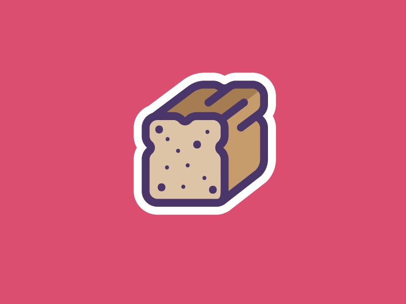 Bread bun sandwich sliced bread loaf sticker set sticker icon set illustration icon vector