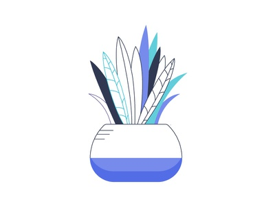 Houseplant iconography design icon vector clean colorful plant houseplant outline illustration thin line illustration indoor plant