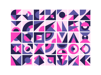 Abstract Patterns bold simple shapes grid geometric pattern illustration icon vector
