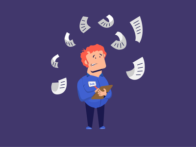 Too much data! character design stress employee worker spot illustration icon illustration vector