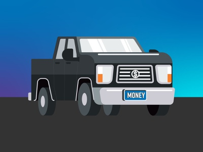 Big Hoss rig car big truck ride drive monster truck truck vehicle spot illustration illustration icon vector