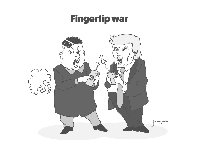 Fingertip War Satire By Michael V On Dribbble